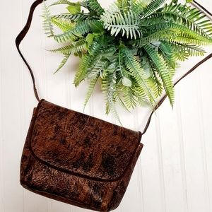 Stuart Weitzman Bags - Stuart Weitzman Tiger Print Leather Crossbody Bag